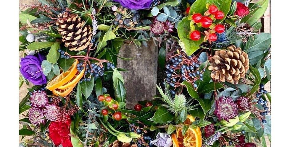 Festive Sympathy Wreath