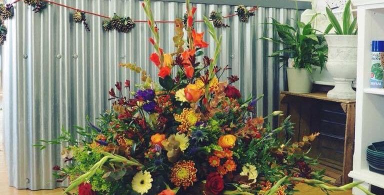 Large Autumn Arrangement in Basket