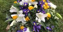 Purple, White and Yellow Tied Sheaf