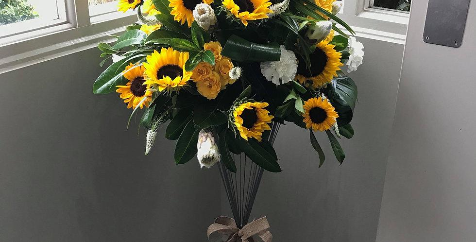 Sunflower Pedestal Arrangement
