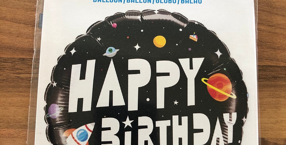 Space Happy Birthday Balloon