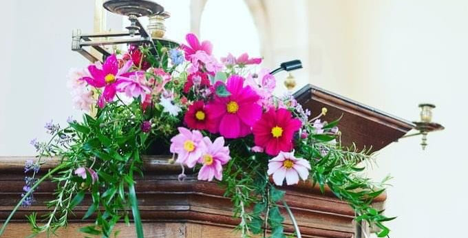 Pink Church Arrangement