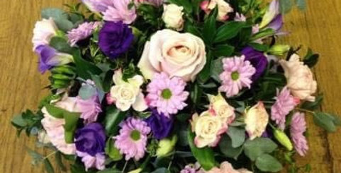Pale Pink And Purple Posy