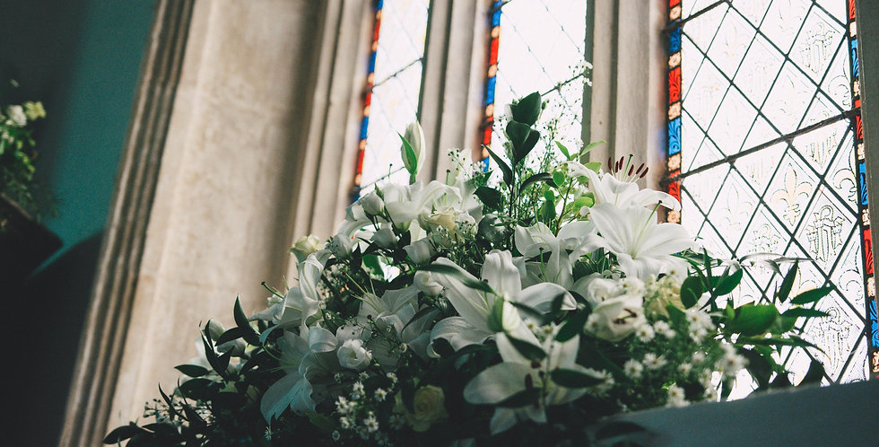 White Church Window Arrangement