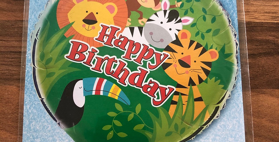 Safari Happy Birthday Balloon
