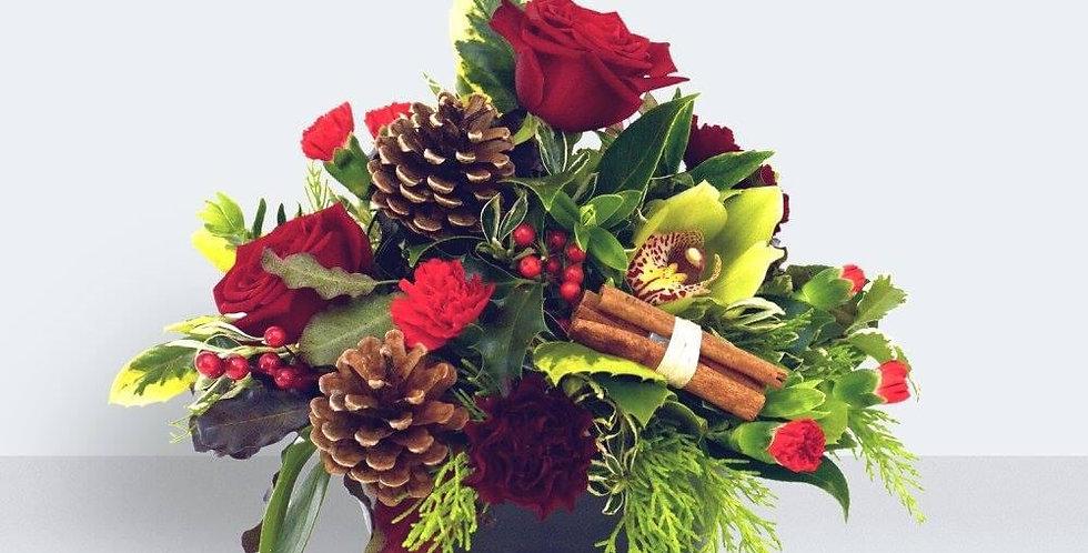 Florist Choice Red Table Arrangement