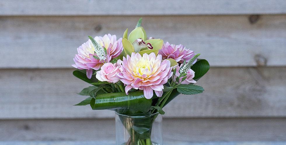 Silver Vase of Flowers