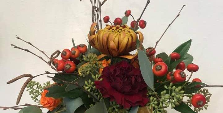 Small Ceramic Pumpkin Arrangement