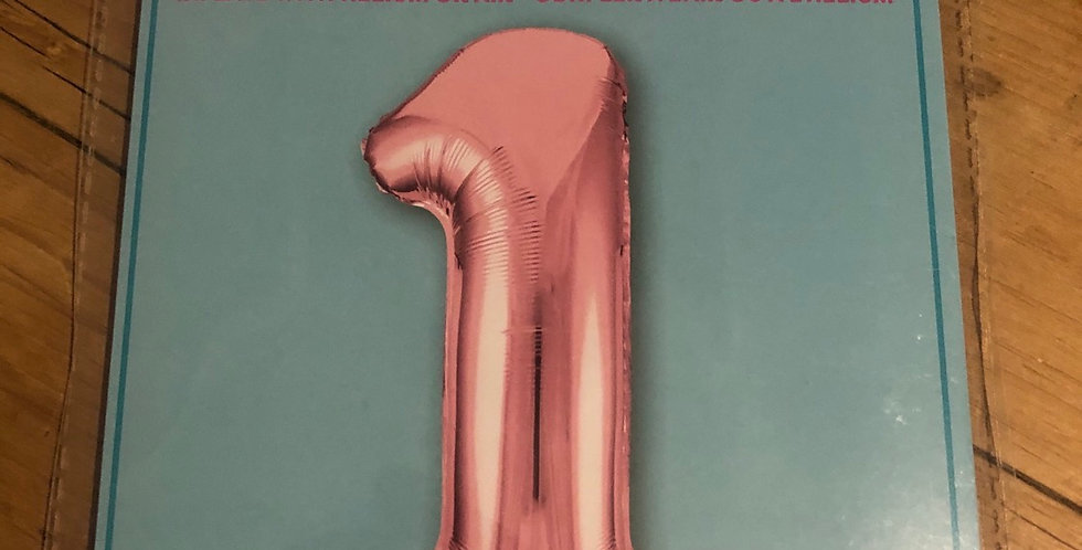 1 Large Number Pink