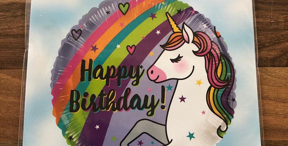 Unicorn Happy Birthday Balloon