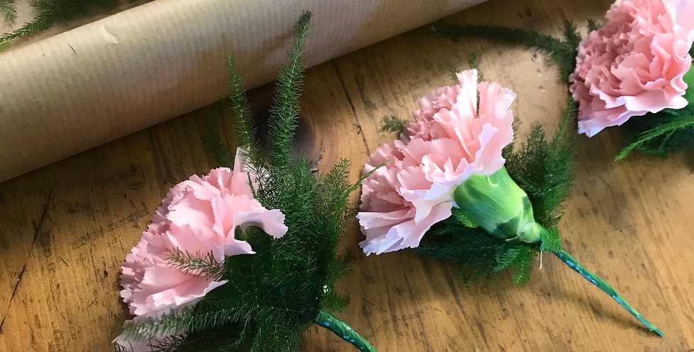 Pale Pink Carnation Buttonhole