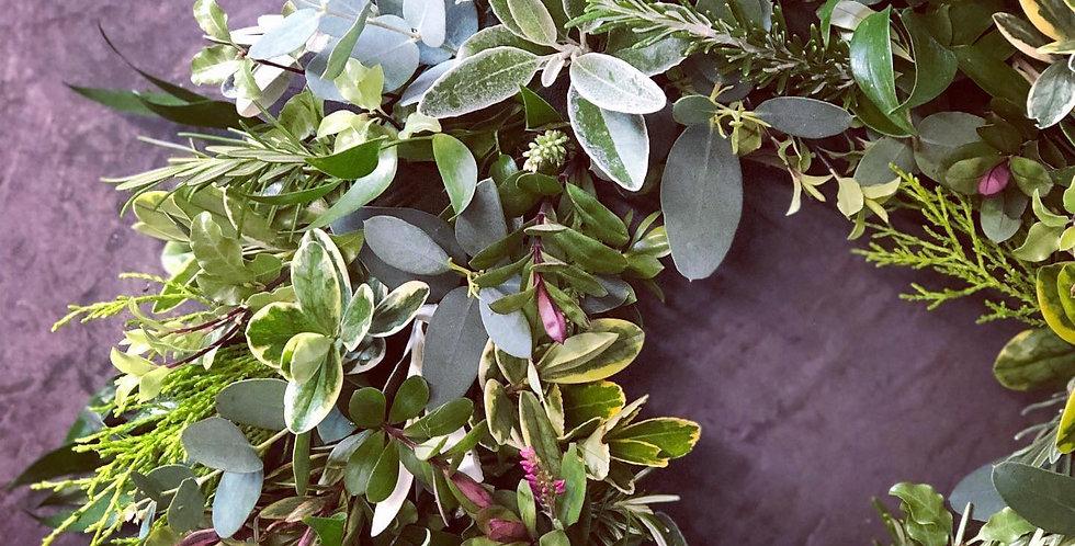 Full Foliage Sympathy Wreath
