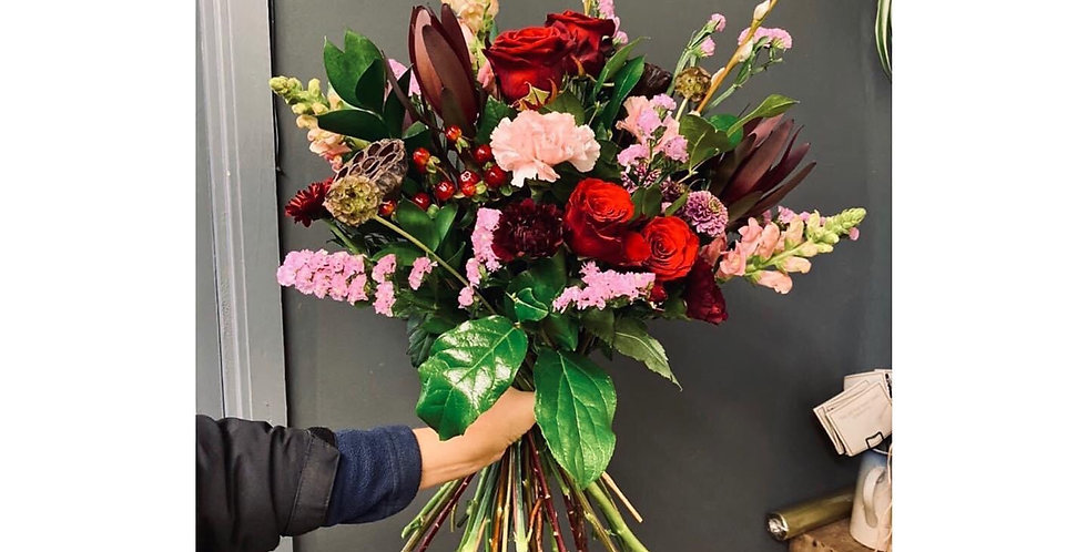 Red and Pink Festive Bouquet