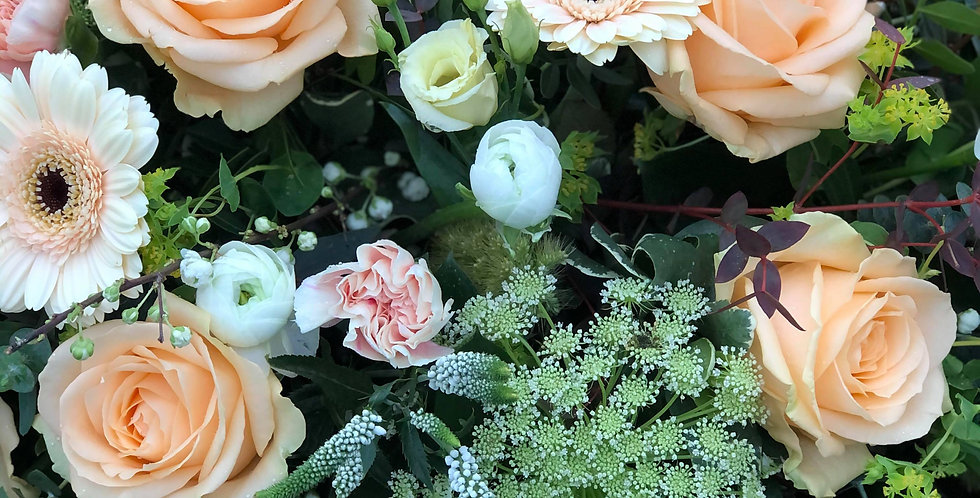 Peach And Cream Posy