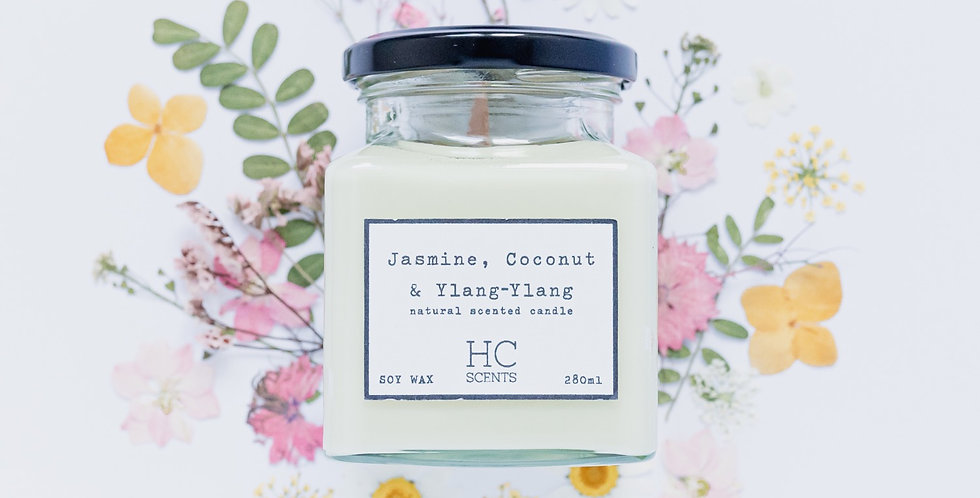 Jasmine, Coconut & Ylang-Ylang Candle