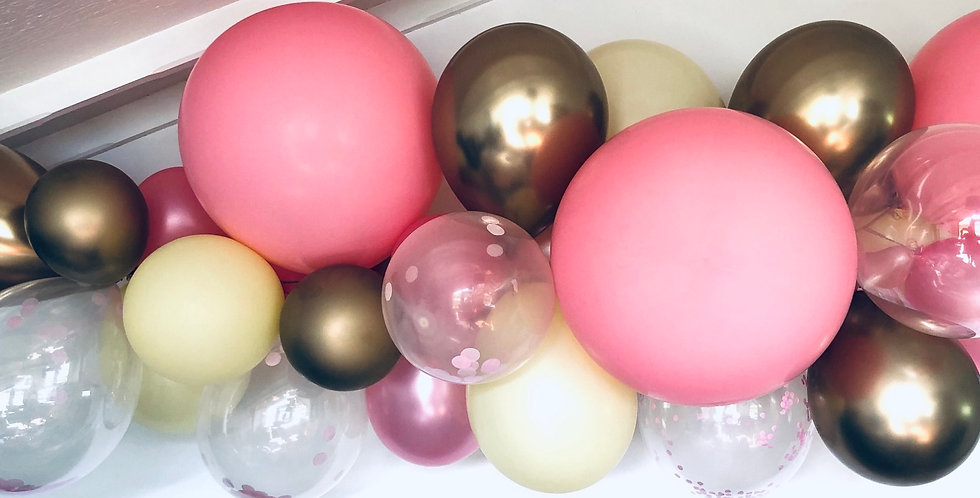 2m Pink and Gold Balloon Cloud