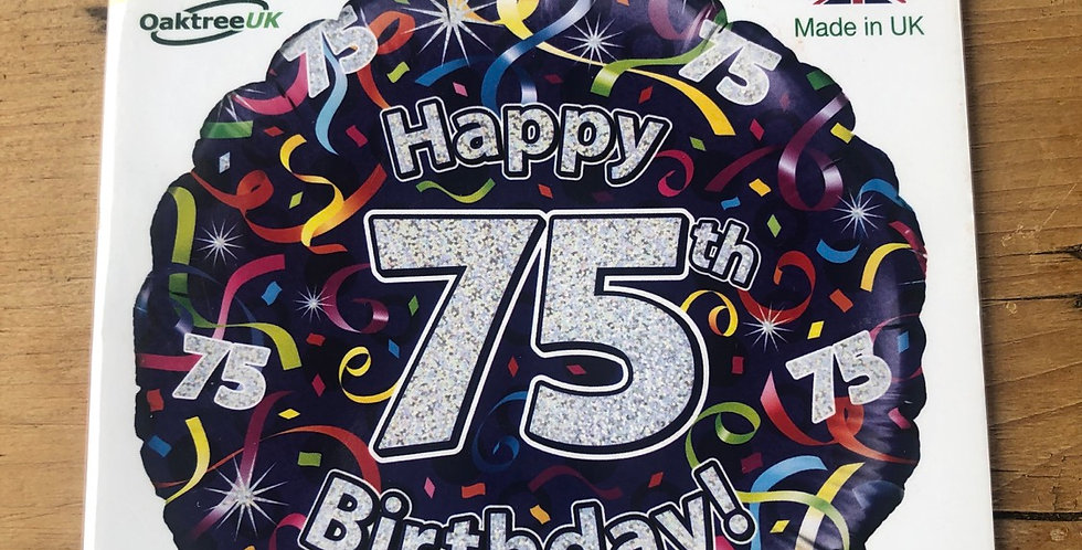 75th Birthday Balloon