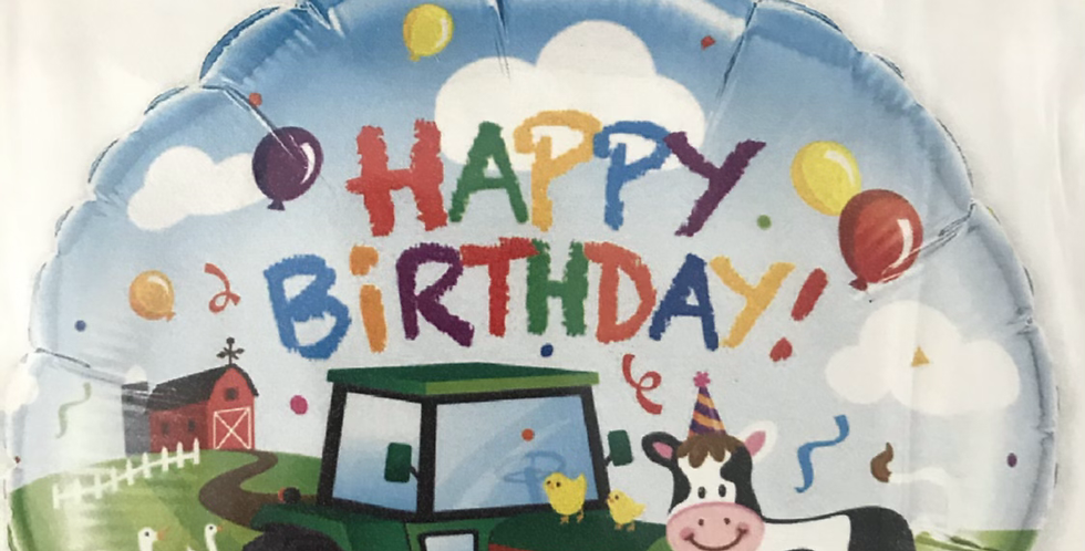 Farm Happy Birthday Balloon