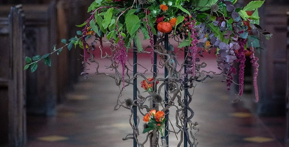 Large Autumn Arrangement with Stand