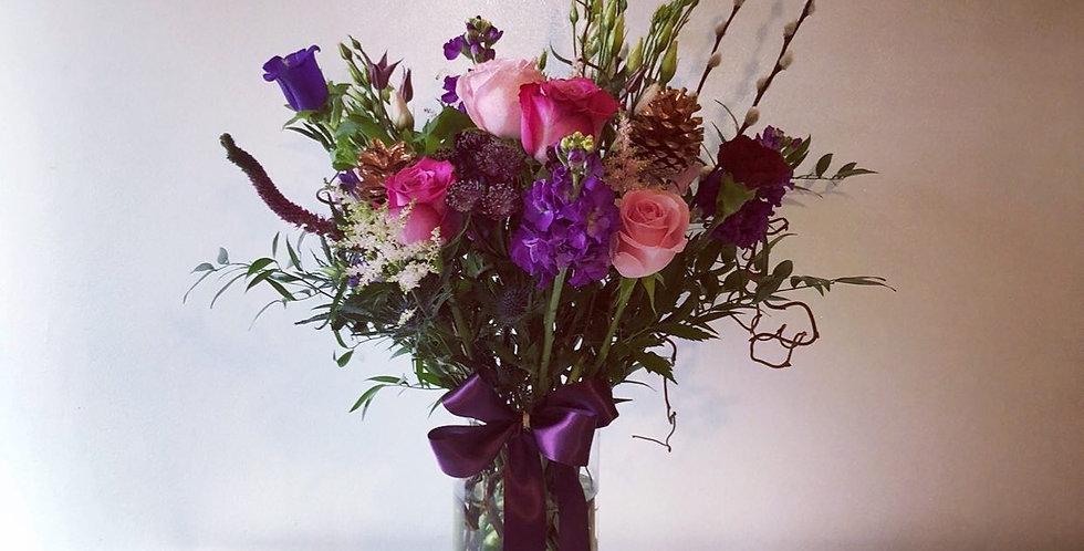 Pink Winter Vase