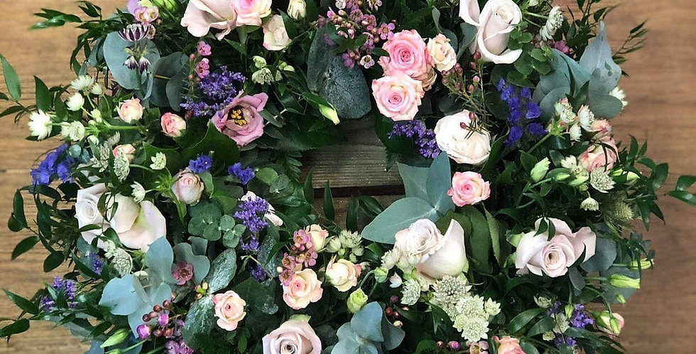 Cottage Garden Sympathy Wreath