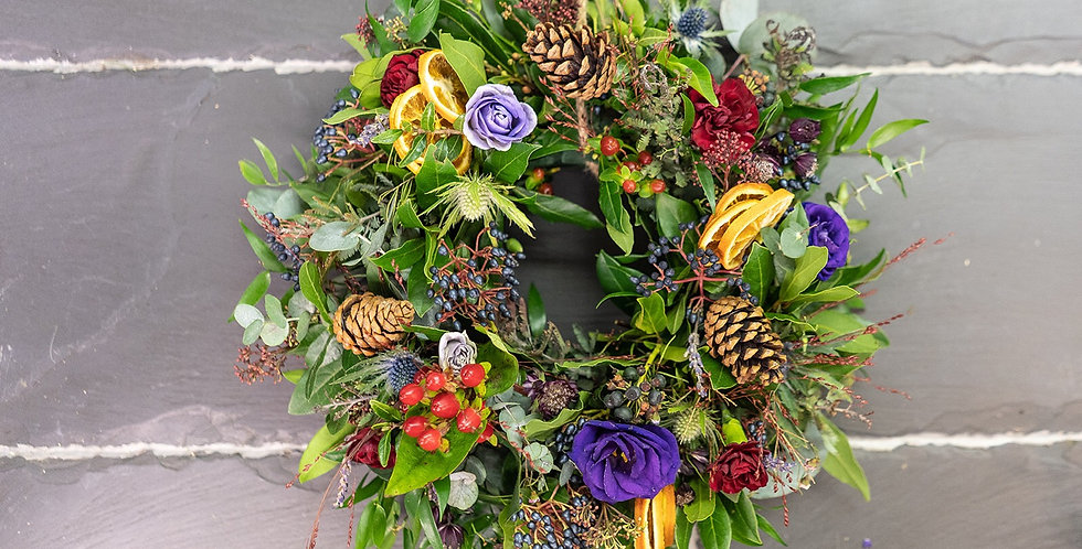 Red and Purple Wreath