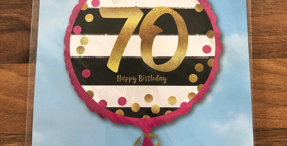70th Birthday Balloon