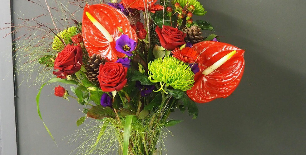 Large Modern Festive Vase Arrangement