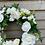 Thumbnail: White and Green Silk/Artificial Wreath (Ex Display)