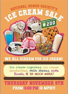 NHS Ice Cream Sale