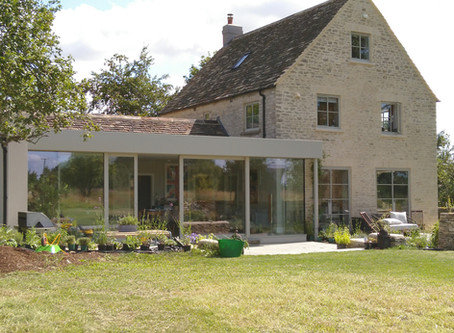 Kitchen extension completed and being enjoyed by the clients and their young family near Stroud!