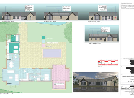 Planning consent gained for dependent person's annex.