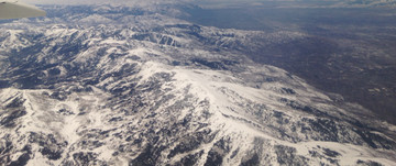 Flight View of Mountains surrounding SLC