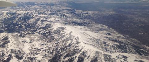 Flight View of Mountains surrounding SLC