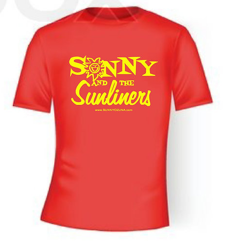 SUNNY red with yellow letters