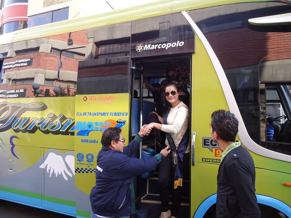 Arribo candidatas Miss Ecuador