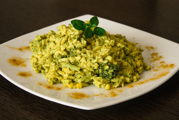 creamy orzo with broccoli and basil
