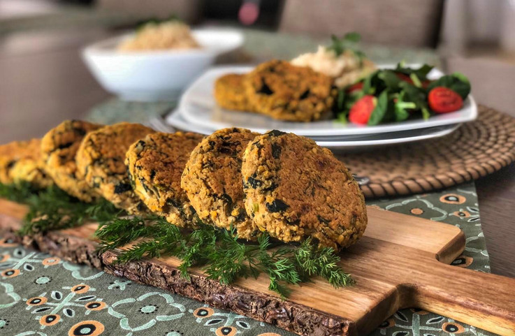 Red lentils and spinach patties.jpeg