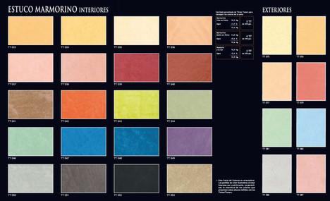 Marmorino Colour Chart
