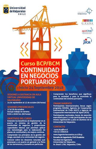 Convocatoria 3° curso internacional Gestión de Continuidad de Negocios Portuarios