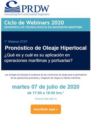 """Webinar: """"Pronóstico de Oleaje Hiperlocal"""""""