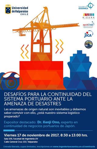 Seminario Internacional: Desafíos para la continuidad del sistema portuario ante la amenaza de desas