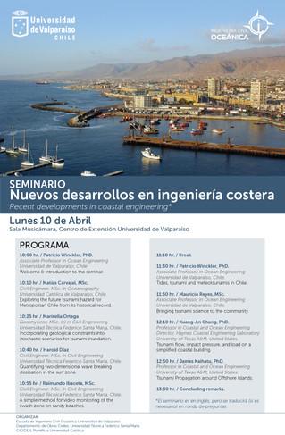"""Seminario Internacional """"Nuevos desarrollos en ingeniería costera"""""""