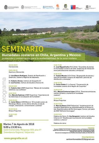 SEMINARIO HUMEDALES COSTEROS EN CHILE, ARGENTINA Y MÉXICO
