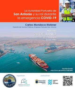 """Charla Online: """"La Autoridad Portuaria de San Antonio y su rol durante la emergencia COVID 19&q"""