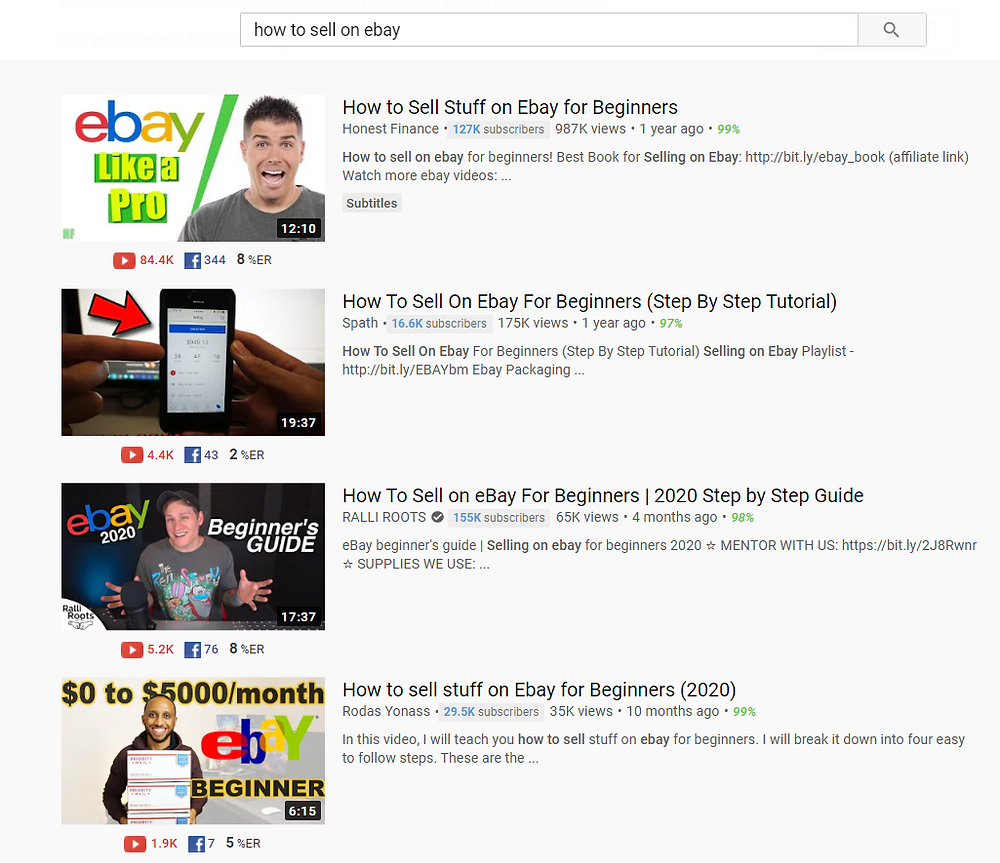 how to sell on ebay YouTube search results