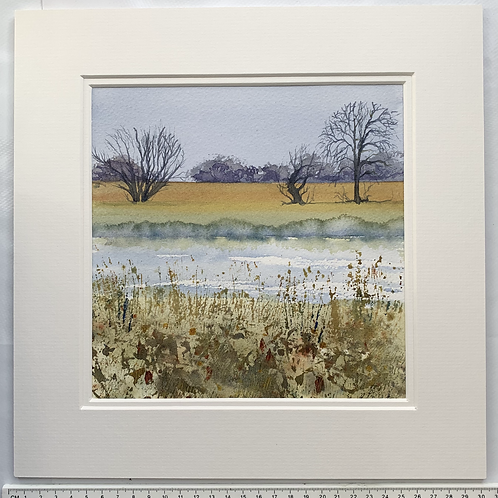 Grantchester Meadows, Cambridge. Original Watercolour Painting