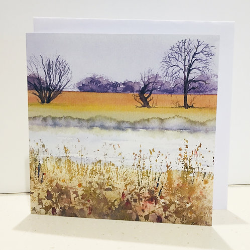 Printed Cards 145 x145mm square complete with envelope and cellophane wrapping