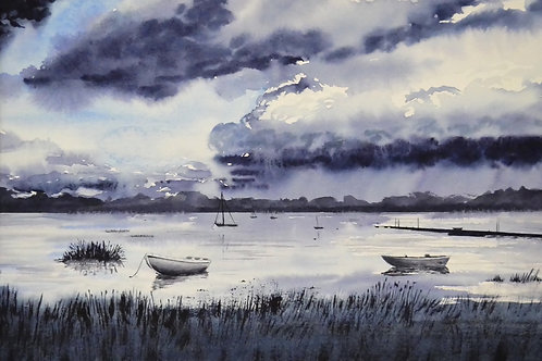 Storm Approaching Pin Mill Original Watercolour Painting