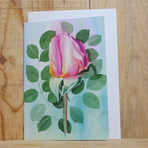 Red rose. Gift card